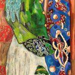 Martina Rossa Kunst, Mädchen,Theater,Bühne,Zirkus,PuppenMärchenpuppen, Bühnenbilder, Phanasie, Farbenpracht, Paarkunst